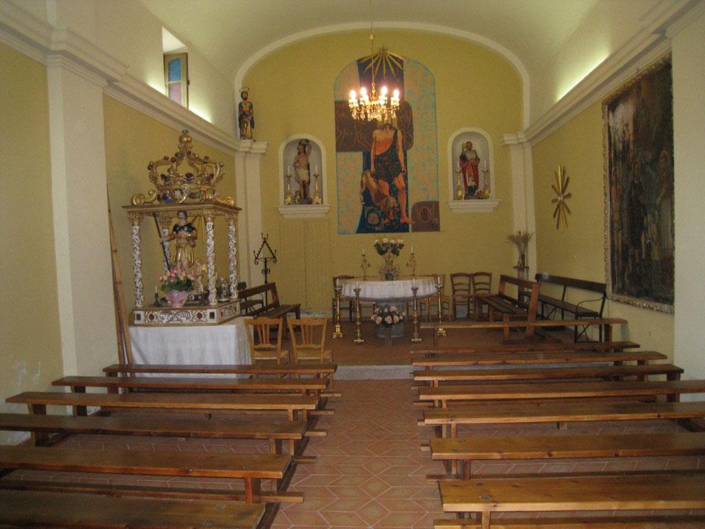 Isola, intérieur de la chapelle Saint Roch