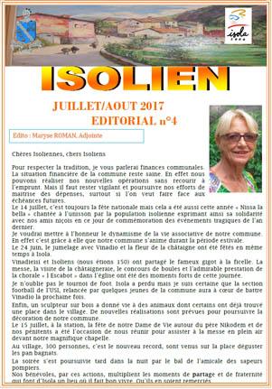 Isolien 2017 juillet août