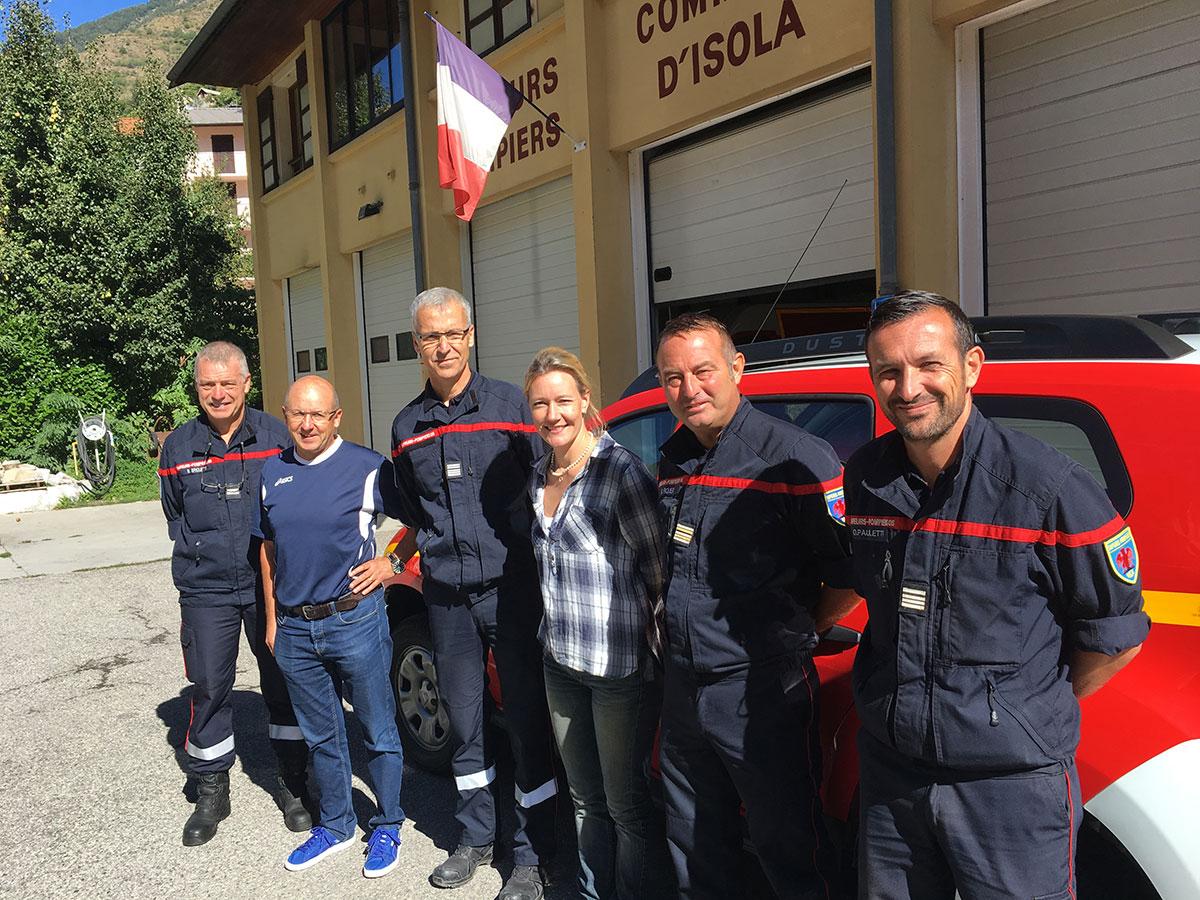 visite sdis caserne des pompiers isola