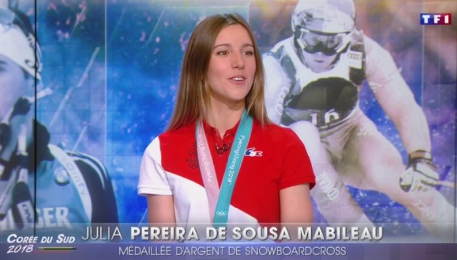 Julie Pereira de Sousa Mabileau au 20h de TF1 le 18 février 2018