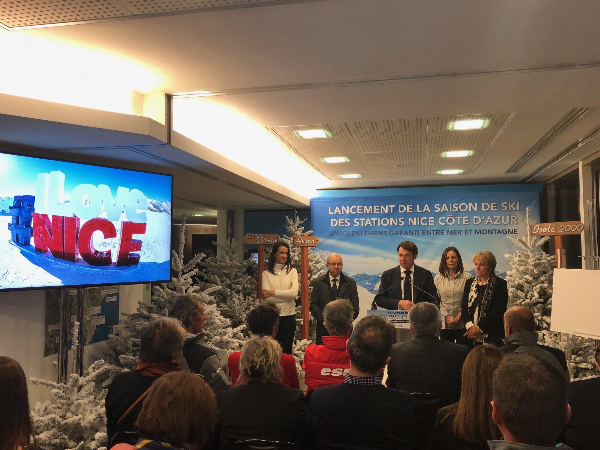 Réunion pour le lancement de la saison d'hiver 2017-2018 des stations stations Nice Côte d'Azur