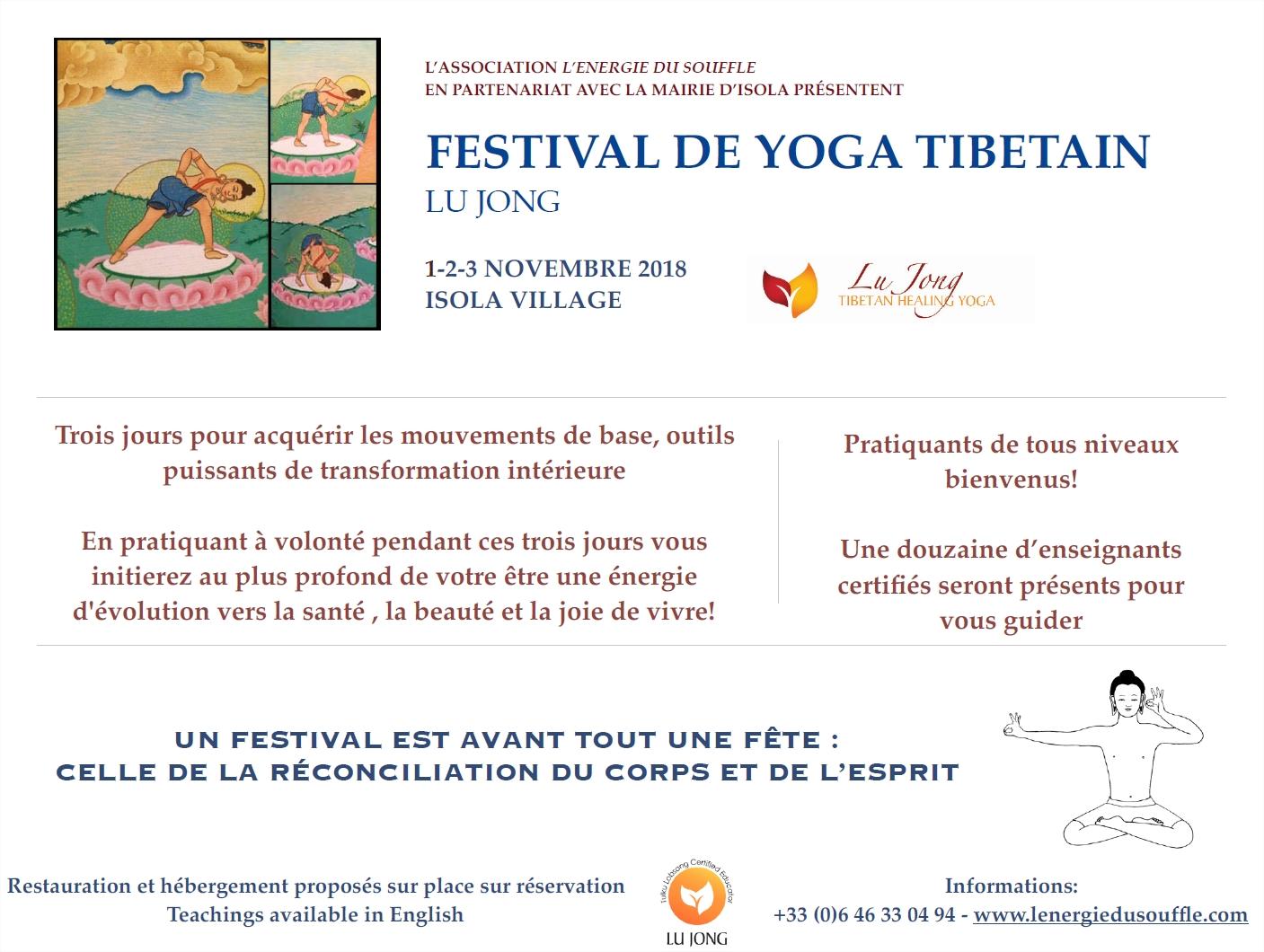Festival de Yoga tibétain à Isola village 1 2 3 novembre 2018