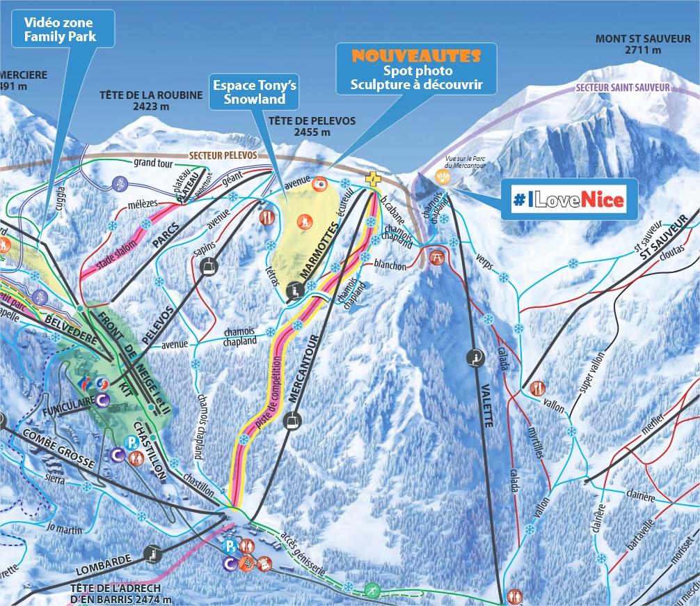 nouvelle piste de ski competition Isola 2000