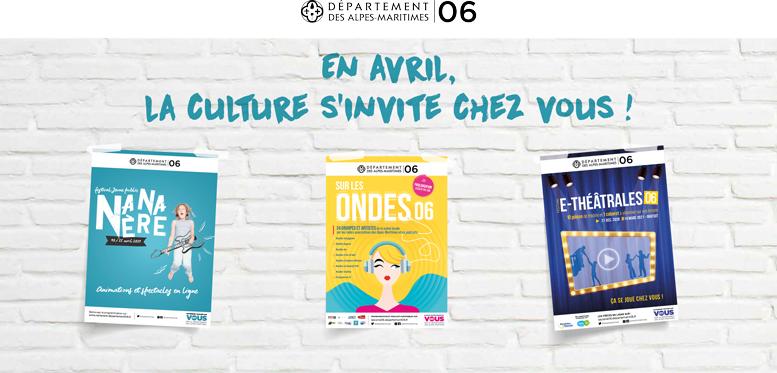 La culture s'invite chez vous Alpes-Maritimes